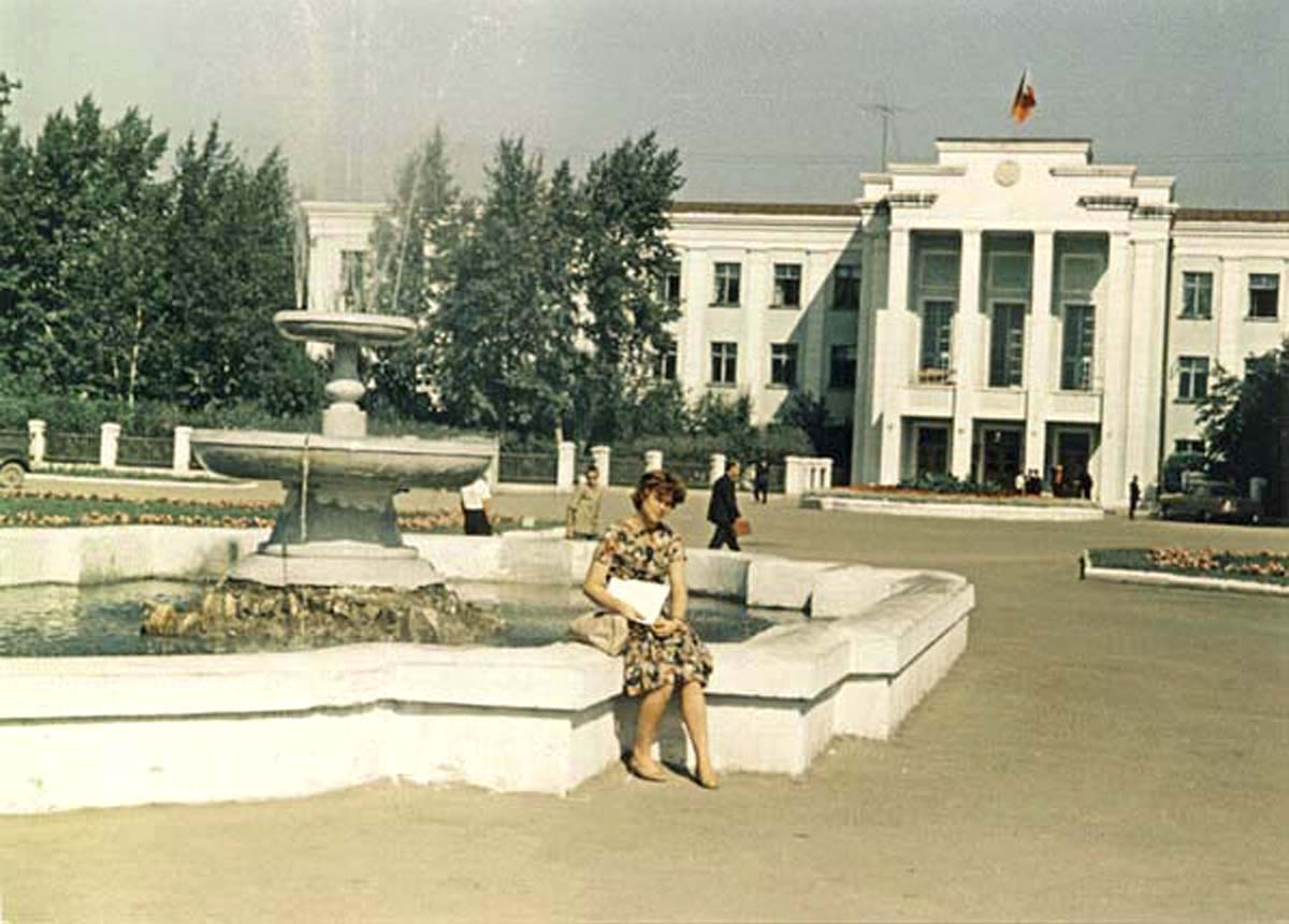 Abakan. Pervomaisky Square, 1965