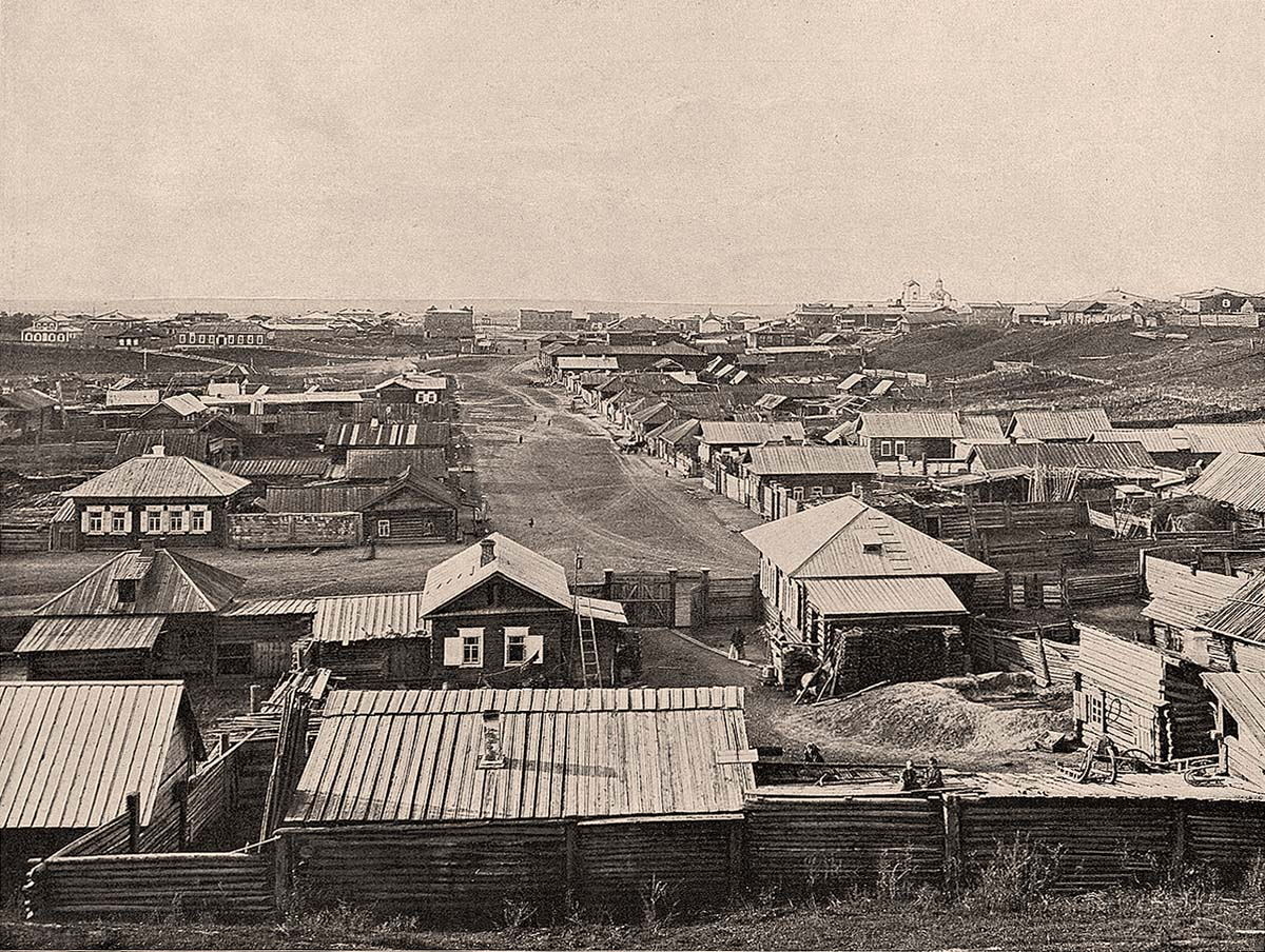 Achinsk. Panorama of city, 1899