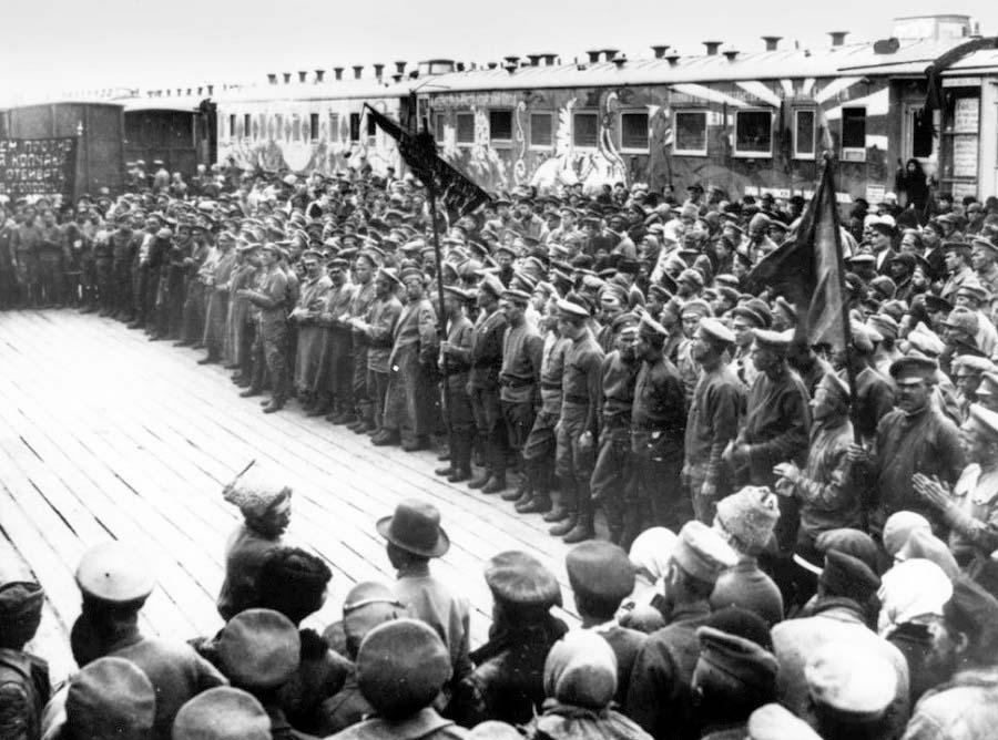 Alatyr. Agitation train on Alatyr station in 1919