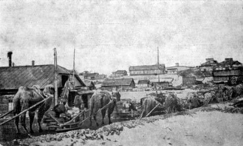 Aldan. Delivery of cargo