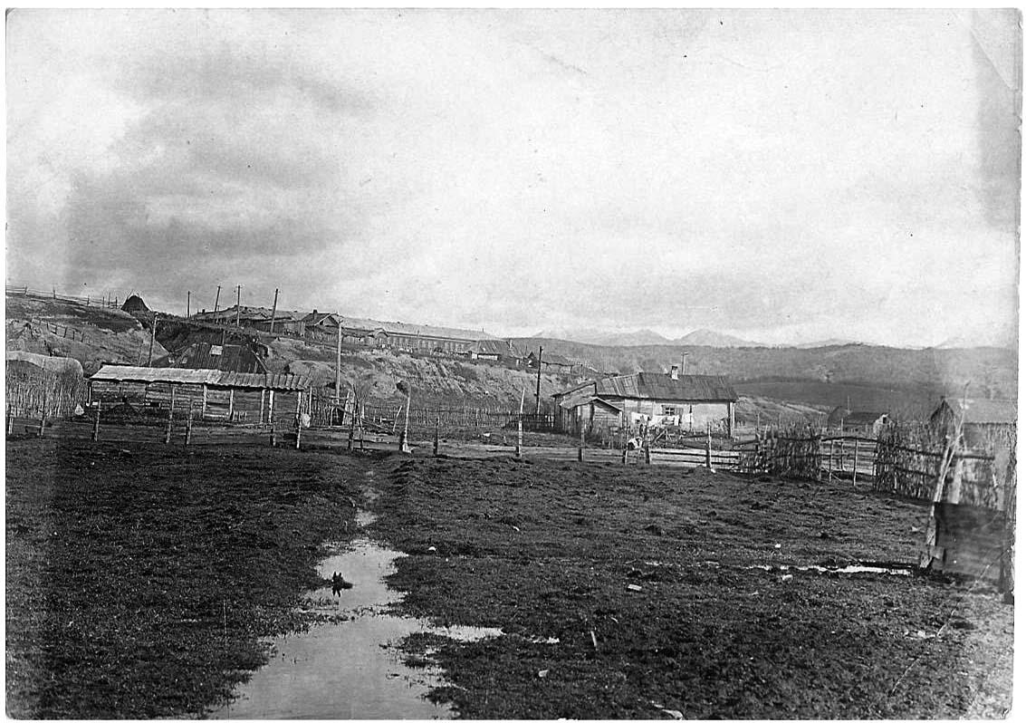 Alexandrovsk-Sakhalinsky. Panorama of the city, far away - middle School №2, 1930