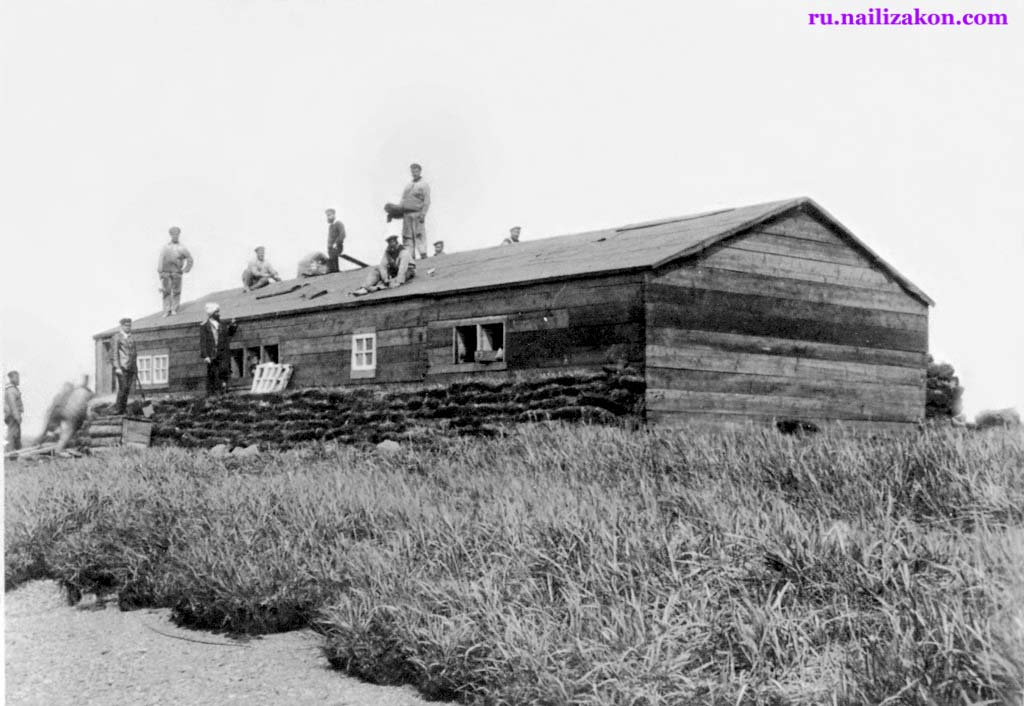 Anadyr. Construction of the first house, 1889