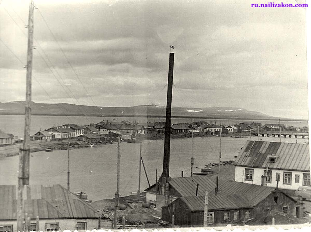 Anadyr. View of the river Kazachka, 1960s