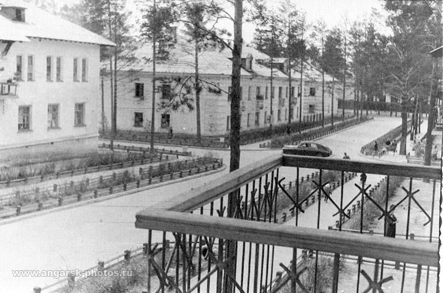 Angarsk. October street, 1956