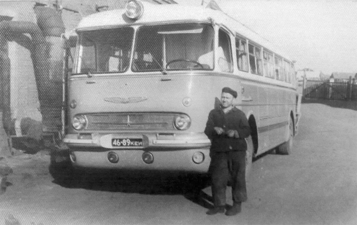 Anzhero-Sudzhensk. Bus 'Ikarus 55 Lux'