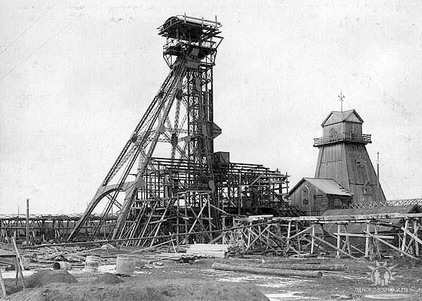 Anzhero-Sudzhensk. The construction koper of mine № 5-7