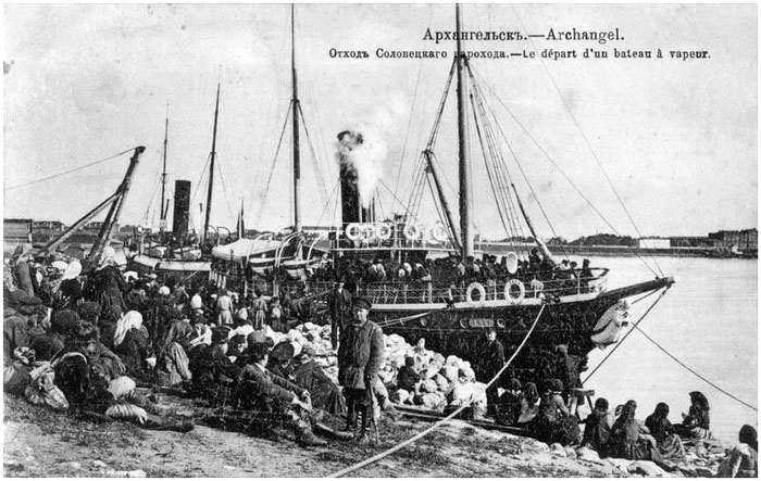 Arkhangelsk. Departure of Solovetsky ship