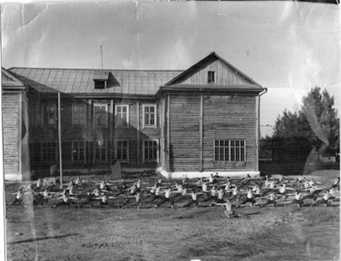 Asino. The school, 1950's