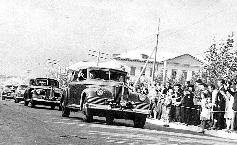 Aznakayevo. Arrival in city NS Khrushchev, August, 1964