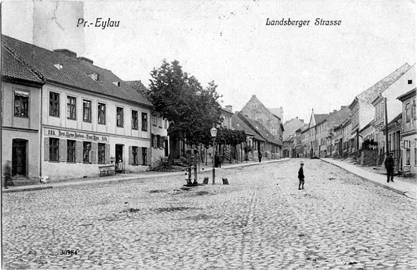 Bagrationovsk. Landsberger Strasse, circa 1930