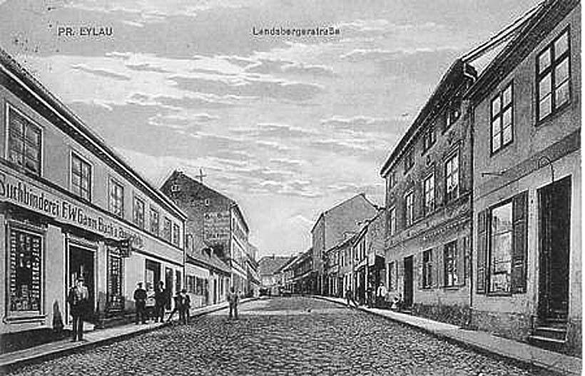 Bagrationovsk. Landsberger Strasse, 1934