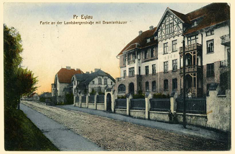 Bagrationovsk. Landsberger Strasse, administrative building