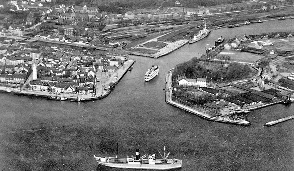 Baltiysk. Panorama of the city, circa 1930