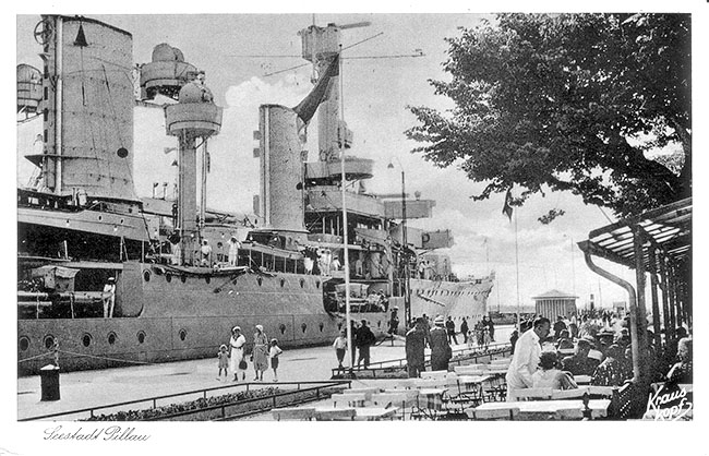 Baltiysk. Quay of port
