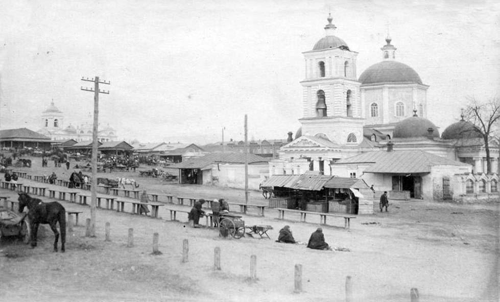 Belgorod. Panorama of the Tikhvin church, 1918