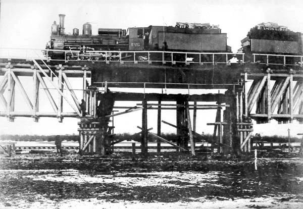 Belogorsk. Testing of bridge, 1914