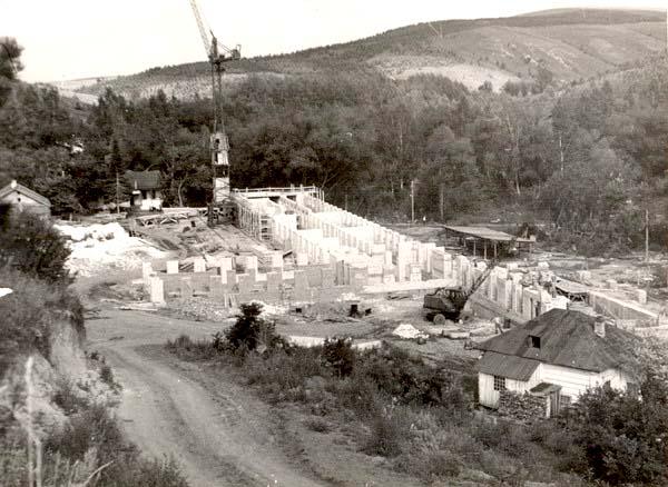 Belokurikha. Construction of the first corps of the sanatorium 'Altai'