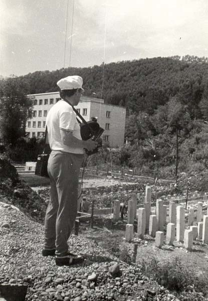 Belokurikha. Construction site of the sanatorium 'Altai'