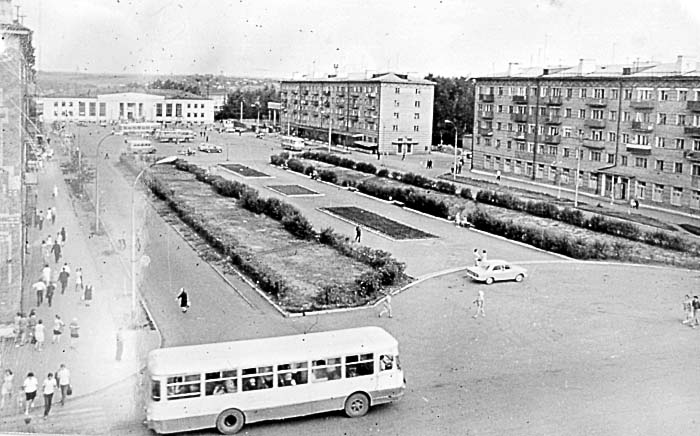 Belovo. Railway station square