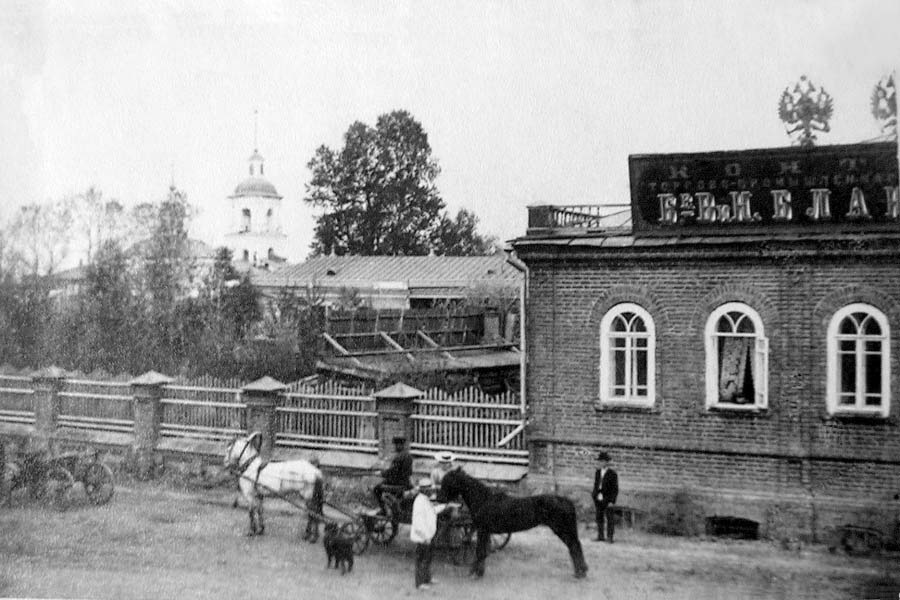 Biysk. Exchange of horse-car drivers