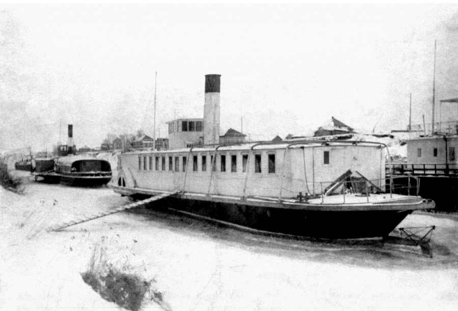 Biysk. The steamship on Biysk jetty