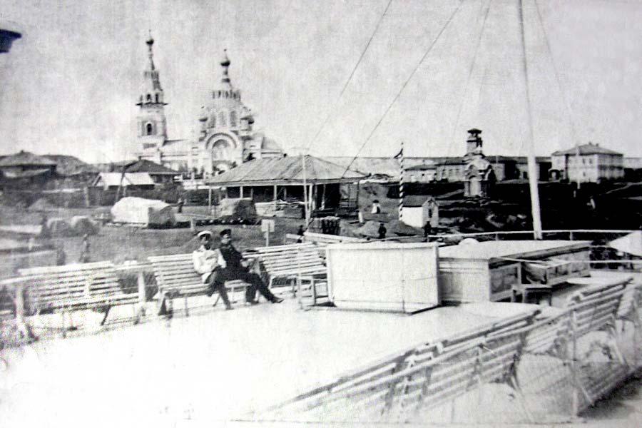 Biysk. View of the Trinity Square