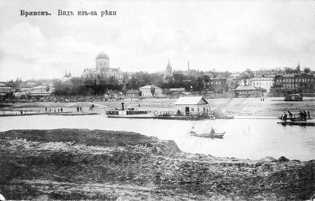 Bryansk. Panorama of the city from across the river, circa 1910's