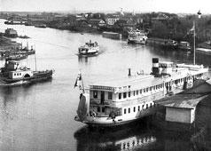Vologda. Steamship wharfs, 1912