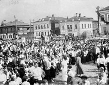 Vyazniki. May Day demonstration in 1936