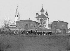 Vyazniki. School behind Trinity Church