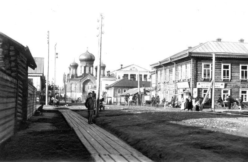 Glazov. Preobrazhenskaya street