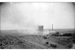 Davlekanovo. Construction of the grain elevator number 1