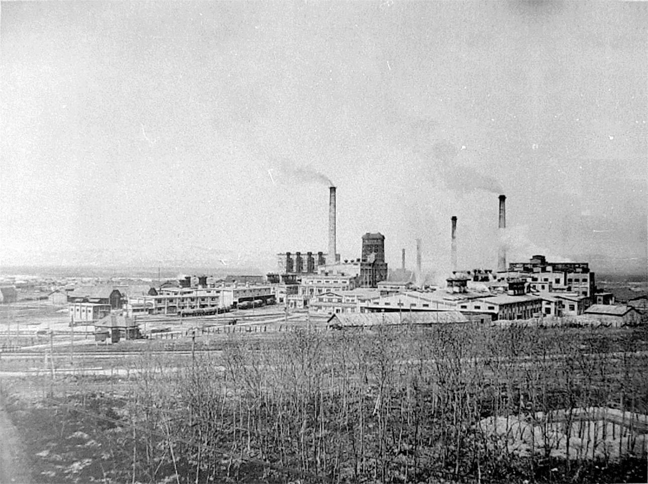 Dolinsk. Paper mill, circa 1930s