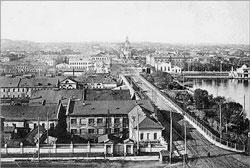 Yekaterinburg. View of the dam