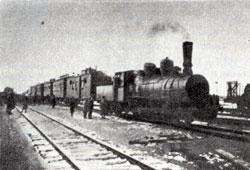 Ишимбай. The first working train