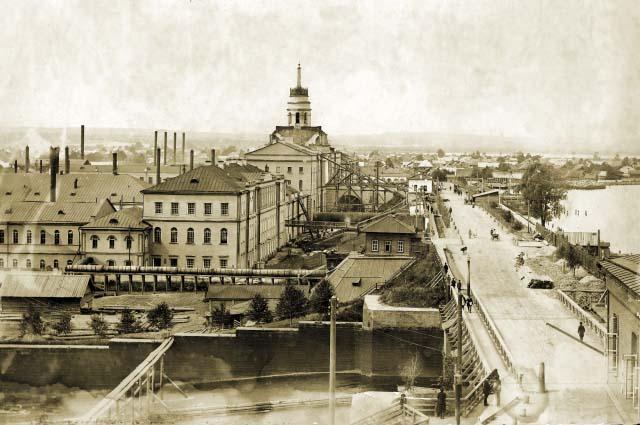 Izhevsk. The dam, 1910