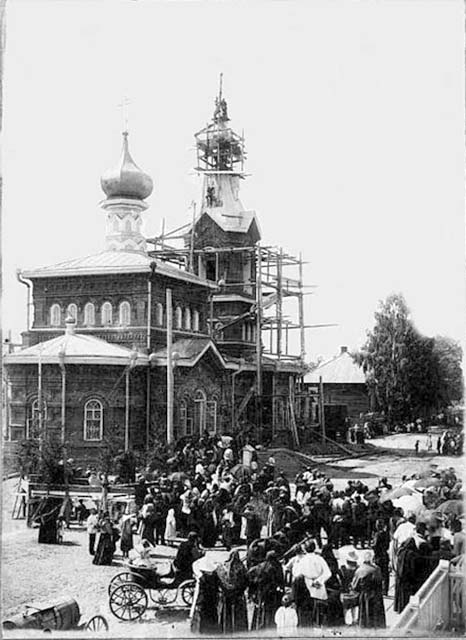 Izhevsk. Construction of Intercession Church