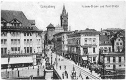 Kaliningrad. Cramer Bridge and Kant Street