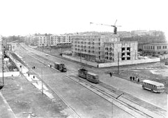 Kaliningrad. Panorama of Lenin Avenue, 1960