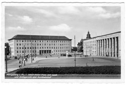 Kaliningrad. North Station and the building of Land- and Administrative Court