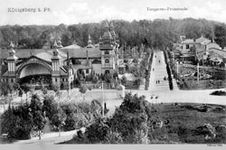 Kaliningrad. Zoo and walkway for walks, 1908
