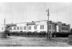Kanash. The former building of the eye hospital