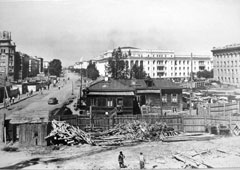 Kemerovo. Construction of Soviet avenue