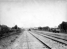 Kemerovo. Laying tram tracks on Sovietsky Avenue