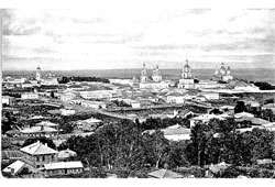 Kirov. Panorama of the city, 1907