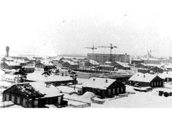 Koryazhma. Panorama of the city