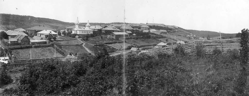 Korsakov. View on military post, 1891 year