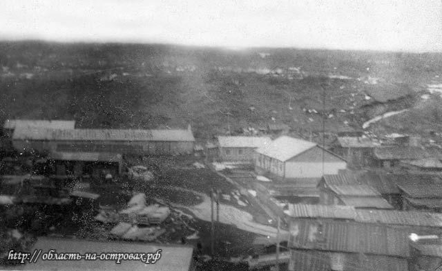 Kurilsk. Panorama of the city