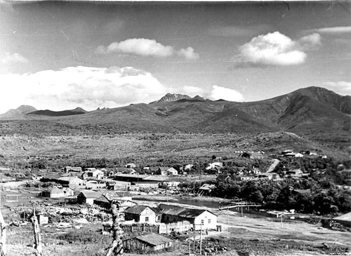 Kurilsk. Panorama of the settlement