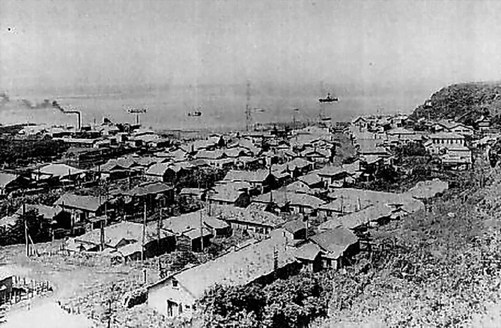 Kurilsk. The settlement Syana